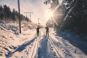 Med skidloppet i sikte tränade vi under vintern, men vi hade hela tiden i bakhuvudet att där längre fram på sommaren väntade den riktigt stora utmaningen, att springa 45.
