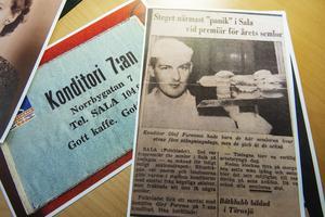 En artikel om Kristers far Olle Furenmo när han arbetade som bagare/konditor på 7:ans Konditori i Sala.