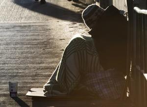 Nynäshamns kommun vill förbjuda tiggeri på vissa platser. Foto: Fredrik Sanderg/TT