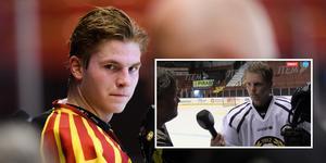 Victor Söderström var med under Brynäs första isträning. Foto: Bildbyrån.