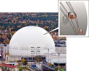Östersundsföretaget Liftbyggarna är i färd med att bygga en rälsburen kabinbana med två gondoler som ska ta turister och andra intresserade till Globens tak i Stockholm. Senast i december ska bygget vara klart.