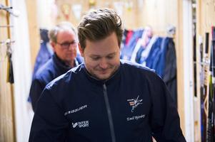 Emil Björnberg, assisterande tränare i Kovland.