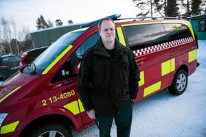 Räddningsledare Mikael Lundberg. Arkivbild