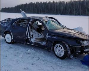 Den första klagomålsanmälningen rörde olyckan med den här bilen som lyckligtvis inte ledde till några allvarliga personskador. Bild: Privat