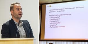 Sex chefstjänster försvinner när Mikael Björk organiserar om kommunstyrelseförvaltningen.