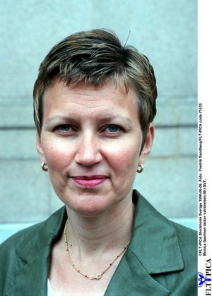 Monica Saarinen, en av Public Services skickligaste journalister. Foto: Fredrik Sandberg/