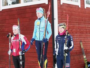 Damseniorernas prispall: Annie Lind, Finnskoga, Chardine Sloof, Bore och Anna Wikström, Mora.