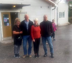 Styrelsen för 100-årsfirandet av Marma Folkets Hus: Ann-Cathrin Andersson, Hans Lindström, Margareta Lindholm och Mats Jönsson. Foto: Lars Gustafson