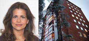 Fatima Berggren (foto: Privat) och ett av husen på Pettersberg, bostadsområdet där hon bodde (foto: Tony Persson).