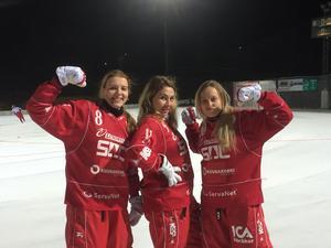 Olga Rodinova,  Ekaterina Besprovzvannyh och Julia Tatarova ansöt till Söråker Bandy på måndagen – och var på is för första gången med laget samma kväll,