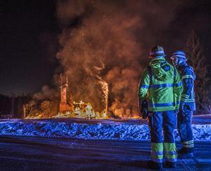 Huset i Sjöhagen brann ned till grunden. Foto: Niklas Hagman