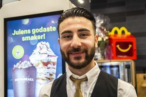 Loran Hajo är en av dem som fått jobb på McDonald's i Bollnäs.