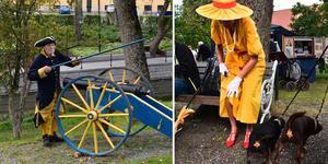 Stilar och prylar från en hel drös olika epoker visades under lördagen upp utanför Roslagsmuséet.