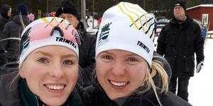 Johanna Nordkvist (th), här med syster Amanda, tog ett JSM-brons i Idre i helgen. Foto: Privat