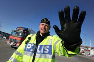 Johan Alm är gruppchef för trafikpolisen i Dalarna.