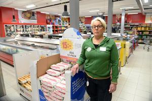 Elisabeth Eklöf-Damm, butikschef på Coop Nära i Haga.