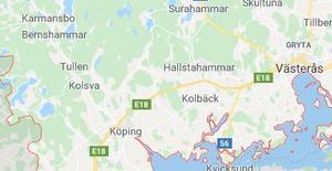 Olyckan inträffade på första delsträckan som gick utanför Köping.