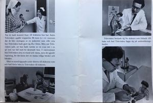 Boken säljs av en privatperson i Sollentuna. I boken gör Televinken spännande saker som att leka med en kossa, toka sig med en borste,  använda en levande svan som båt och gå till doktorn och få en rejäl genomgång av
