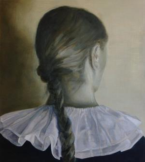Söndag, målat porträtt av Mikael Rydh.