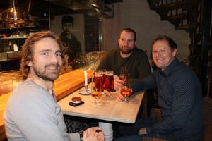 Sten Rundström, Nils Rundström och Johan Larsson. Foto: Py Tenor