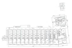 Så här ser planritningen för de nya bostäderna ut. I ovankant ses cykelförrådet och till vänster ses källsorteringsutrymmet.Skiss: Södertälje kommun.