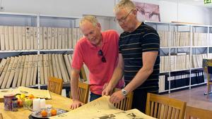 Lars Höglund och Börje Strömberg jobbade en tid på FP under sent 60-tal. Båda uppskattade att vara tillbaka på redaktionen.