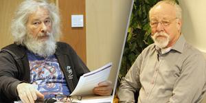 Kurt Rådlund, till höger, hoppas pensionärsrådet får gehör får åsikter då de lägger fram dem för KPR-ordförande László Gönczi.