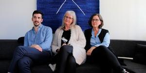 Samuel Ölund, Gunilla Börjesson och Gunilla Hallström, lärare på Spri på Virginska gymnasiet.