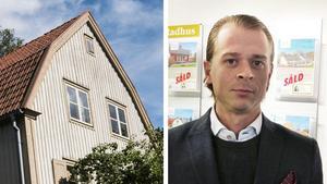 Foto: Vilhelm Stokstad/Johan Järvestad– Många känner sig osäkra på grund av amorteringsregler och bolånetak, men framförallt har bankerna dragit i handbromsen och blivit mindre villiga att låna ut pengar, säger Linus Lindqvist, delägare i Svensk fastighetsförmedling i Gävle.