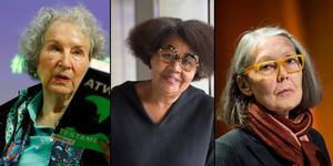 Kvinnorna favorittippade inför att Nobelpriset i litteratur avslöjas. Foto: Fredrik Sandberg/ Pontus Lundahl / TT / Alastair Grant/AP (bilden är ett montage)