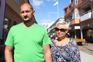 Johan och Wictoria Gunnarsson från Kättilstorp lyckades pricka in de bästa veckorna att ha semester, när vädret var som bäst.