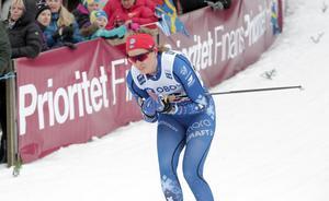 Bara två damer var snabbare än Anna Dyvik i Vuoaktti, om man ser till den snabbaste tiden.
