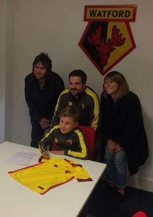En åttaårig Kiefer Gorman har precis skrivit kontrakt med Watford FC 2017. Bild: Privat