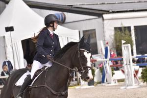 Michelle Cranning Hillgren under tävlingen i Frankrike.