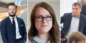 Alexander Rosenberg (M), Linda Sjögren (V) och Metin Hawsho (L) har ingått en valteknisk samverkan.