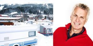 Pigge Werkelin berättar att de senaste omsvängningarna i planerna för campingen i Duved beror på att skolan på orten byggs ut och att det därmed troligen behövs mer bostäder. Bilder: Elisabet Rydell-Jansson och Anna-Lena Ahlström