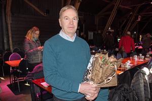 Lars Enoksson  strax efter att han avtackats på Avestas företagarfrukost.
