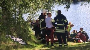 En drunkningsolycka med dödlig utgång inträffade på söndagen i Västerdalälven i närheten av Nås, i Vansbro kommun.