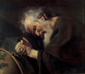 Filosofen Herakleitos. Målning av Johannes Moreelse från 1630.