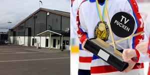 TV-pucksfinalerna spelas i Lugnets ishall i Falun. Bilden är ett montage.