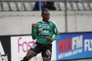 Christian Kouakou stod för ett drömmål i matchen mor Mjällby AIF.