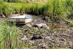 Bild från förra årets vattenbrist  i Svartån. Foto: Fredrik Lindé