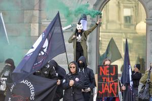 Djurrättsaktivister i Stockholm. Foto: Jessica Gow / TT