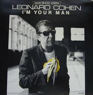 Leonard Cohens överlägset bästa skivomslag, 1988. Han är så sjukt cool att han bara blir coolare av att äta banan på bild. Ett trick bortom allt förnuft.