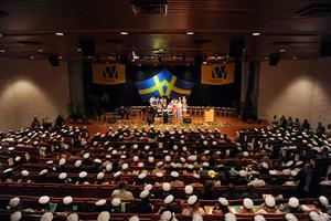 Bilder från sista avslutningen under namnet Wenströmska. Tagna inne i aulan. Foto: Stefan Borg