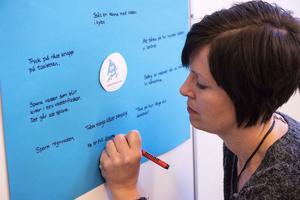 Det finns hur mycket som helst att göra när man bestämt sig för att spara vatten. Förskolläraren Therese Lagergren  berättar när barnen har samling.