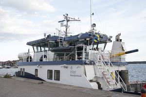 Under måndagskvällen lade forskningsfartyget R/V Electra till i Hudiksvalls hamn, för att fylla på med bränsle.