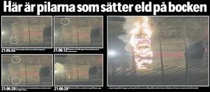 Tidningsklipp från tidernas i särklass mest spektakulära bockbränning.