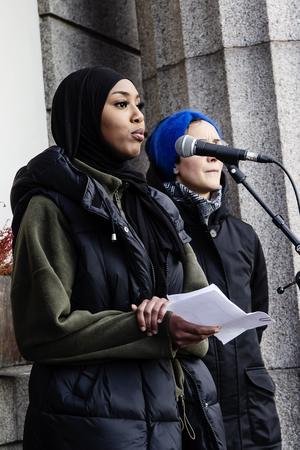 Naima Jamal var en av talarna.