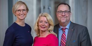 Åsa Eriksson (S), Pia Nilsson (S), Olle Thorell (S), riksdagsledamöter från Västmanland.